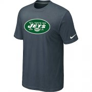 Wholesale Cheap Nike New York Jets Sideline Legend Authentic Logo Dri-FIT NFL T-Shirt Crow Grey