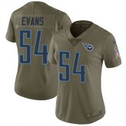 Wholesale Cheap Nike Titans #54 Rashaan Evans Olive Women's Stitched NFL Limited 2017 Salute to Service Jersey