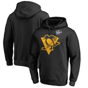 Wholesale Cheap Men's Pittsburgh Penguins Black 2019 Stadium Series Primary Logo Pullover Hoodie