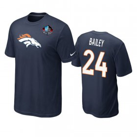 Wholesale Cheap Denver Broncos #24 Champ Bailey Navy Blue 2019 Hall Of Fame NFL T-Shirt
