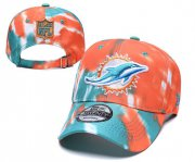Wholesale Cheap Dolphins Team Logo Orange Blue Adjustable Peaked Hat YD