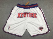 Wholesale Cheap Knicks White Just Don Mesh Shorts