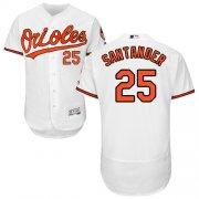 Wholesale Cheap Orioles #25 Anthony Santander White Flexbase Authentic Collection Stitched MLB Jersey
