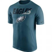 Wholesale Cheap Men's Philadelphia Eagles Nike Midnight Green Legend Staff Practice Performance T-Shirt