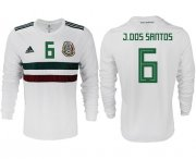 Wholesale Cheap Mexico #6 J.Dos Santos Away Long Sleeves Soccer Country Jersey