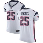 Wholesale Cheap Nike Patriots #25 Terrence Brooks White Men's Stitched NFL Vapor Untouchable Elite Jersey