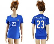 Wholesale Cheap Women's Italy #23 Quagliarella Home Soccer Country Jersey