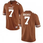 Wholesale Cheap Men's Texas Longhorns 7 Shane Buechele Orange Nike College Jersey