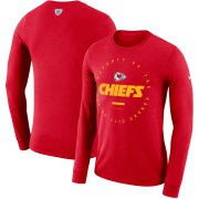 Wholesale Cheap Kansas City Chiefs Nike Property Of Sideline Performance Long Sleeve T-Shirt Red