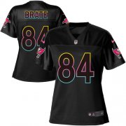 Wholesale Cheap Nike Buccaneers #84 Cameron Brate Black Women's NFL Fashion Game Jersey