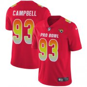 Wholesale Cheap Nike Jaguars #93 Calais Campbell Red Men's Stitched NFL Limited AFC 2018 Pro Bowl Jersey