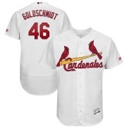 Wholesale Cheap St. Louis Cardinals #46 Paul Goldschmidt Majestic 2019 Hispanic Heritage Flex Base Authentic Player Jersey White