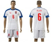 Wholesale Cheap Czech #6 Plasil Away Soccer Country Jersey