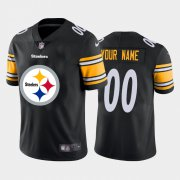 Wholesale Cheap Pittsburgh Steelers Custom Black Men's Nike Big Team Logo Vapor Limited NFL Jersey
