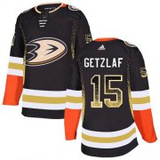 Wholesale Cheap Adidas Ducks #15 Ryan Getzlaf Black Home Authentic Drift Fashion Stitched NHL Jersey