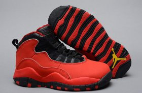 Wholesale Cheap Air Jordan 10 Retro Kids Shoes Red/black