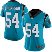 Wholesale Cheap Nike Panthers #54 Shaq Thompson Blue Women's Stitched NFL Limited Rush Jersey