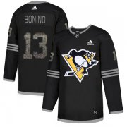 Wholesale Cheap Adidas Penguins #13 Nick Bonino Black Authentic Classic Stitched NHL Jersey