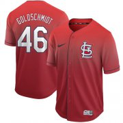 Wholesale Cheap Nike Cardinals #46 Paul Goldschmidt Red Fade Authentic Stitched MLB Jersey