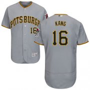 Wholesale Cheap Pirates #16 Jung-ho Kang Grey Flexbase Authentic Collection Stitched MLB Jersey