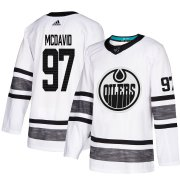 Wholesale Cheap Adidas Oilers #97 Connor McDavid White Authentic 2019 All-Star Stitched Youth NHL Jersey