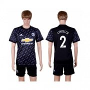 Wholesale Cheap Manchester United #2 Lindelof Away Soccer Club Jersey