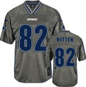 Wholesale Cheap Nike Cowboys #82 Jason Witten Grey Youth Stitched NFL Elite Vapor Jersey