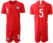 Wholesale Cheap Chile #5 Silva Home Soccer Country Jersey