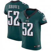 Wholesale Cheap Nike Eagles #52 Asantay Brown Midnight Green Team Color Men's Stitched NFL Vapor Untouchable Elite Jersey