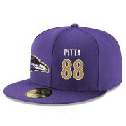 Wholesale Cheap Baltimore Ravens #88 Dennis Pitta Snapback Cap NFL Player Purple with Gold Number Stitched Hat