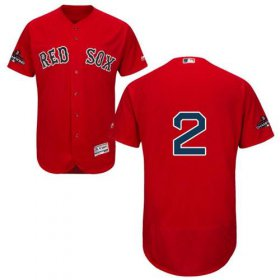 Wholesale Cheap Red Sox #2 Xander Bogaerts Red Flexbase Authentic Collection 2018 World Series Stitched MLB Jersey