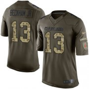 Wholesale Cheap Nike Browns #13 Odell Beckham Jr Green Men's Stitched NFL Limited 2015 Salute to Service Jersey