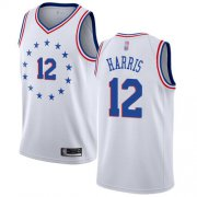 Wholesale Cheap 76ers #12 Tobias Harris White Basketball Swingman Earned Edition Jersey