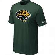 Wholesale Cheap Nike Jacksonville Jaguars Sideline Legend Authentic Logo Dri-FIT NFL T-Shirt Dark Green