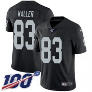 Wholesale Cheap Nike Raiders #83 Darren Waller Black Team Color Men's Stitched NFL 100th Season Vapor Limited Jersey
