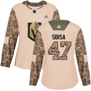 Wholesale Cheap Adidas Golden Knights #47 Luca Sbisa Camo Authentic 2017 Veterans Day Women's Stitched NHL Jersey