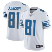 Wholesale Cheap Nike Lions #81 Calvin Johnson White Youth Stitched NFL Vapor Untouchable Limited Jersey