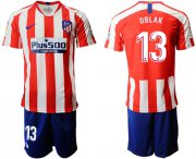 Wholesale Cheap Atletico Madrid #13 Oblak Home Soccer Club Jersey