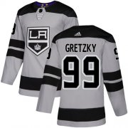Wholesale Cheap Adidas Kings #99 Wayne Gretzky Gray Alternate Authentic Stitched NHL Jersey