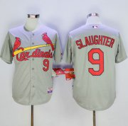 Wholesale Cheap Cardinals #9 Enos Slaughter Grey Cool Base Stitched MLB Jersey