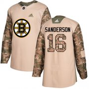 Wholesale Cheap Adidas Bruins #16 Derek Sanderson Camo Authentic 2017 Veterans Day Stitched NHL Jersey