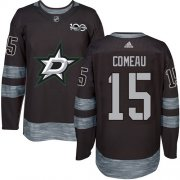Cheap Adidas Stars #15 Blake Comeau Black 1917-2017 100th Anniversary Stitched NHL Jersey