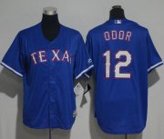 Wholesale Cheap Rangers #12 Rougned Odor Blue Cool Base Stitched Youth MLB Jersey