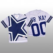 Wholesale Cheap NFL Dallas Cowboys Custom White Men's Mitchell & Nell Big Face Fashion Limited NFL Jersey