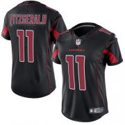 Wholesale Cheap Nike Cardinals #11 Larry Fitzgerald Black Women's Stitched NFL Limited Rush Jersey