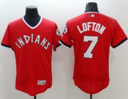 Wholesale Cheap Indians #7 Kenny Lofton Red Flexbase Authentic Collection 1978 Turn Back The Clock Stitched MLB Jersey