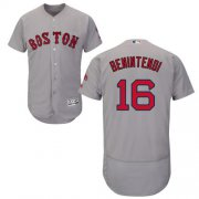 Wholesale Cheap Red Sox #16 Andrew Benintendi Grey Flexbase Authentic Collection Stitched MLB Jersey