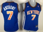 Wholesale Cheap New York Knicks #7 Carmelo Anthony Blue Womens Jersey