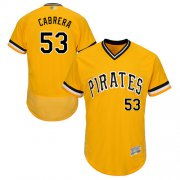 Wholesale Cheap Pirates #53 Melky Cabrera Gold Flexbase Authentic Collection Stitched MLB Jersey