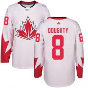 Wholesale Cheap Team Canada #8 Drew Doughty White 2016 World Cup Stitched Youth NHL Jersey